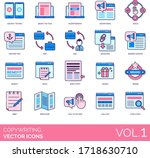 copywriting icons including a b ... | Shutterstock .eps vector #1718630710