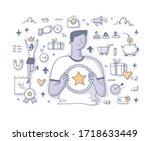 customer loyalty program.... | Shutterstock .eps vector #1718633449