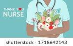 thank you nurse  appreciation... | Shutterstock .eps vector #1718642143