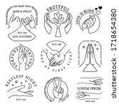 hands gestures logo icons....   Shutterstock .eps vector #1718654380