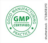 gmp   good manufacturing... | Shutterstock .eps vector #1718658193