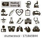 medical icons. vector set  | Shutterstock .eps vector #171865844