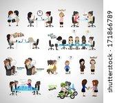 business women   isolated on...   Shutterstock .eps vector #171866789