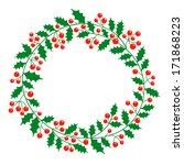 christmas wreath with place for ... | Shutterstock . vector #171868223