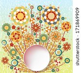 flowers. floral frame...   Shutterstock .eps vector #171869909