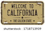 welcome to california message...   Shutterstock .eps vector #1718713939
