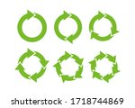 recycle icon symbol vector....   Shutterstock .eps vector #1718744869