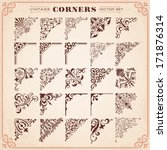 vintage design elements corners ...
