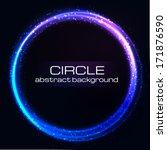 shiny rainbow circles... | Shutterstock .eps vector #171876590