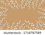 willow at the brown backdrop.... | Shutterstock .eps vector #1718787589