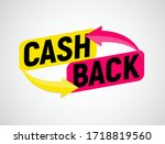 money cashback poster with gold ... | Shutterstock .eps vector #1718819560