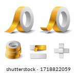 double sided yellow duct. gloss ... | Shutterstock .eps vector #1718822059