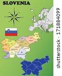 slovenia vector set. isolated. | Shutterstock .eps vector #171884099