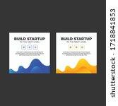 creative banner design template ... | Shutterstock .eps vector #1718841853