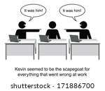 kevin got the blame for... | Shutterstock . vector #171886700