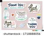 set of thank you medical people ... | Shutterstock .eps vector #1718888056