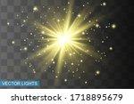 glow isolated yellow light... | Shutterstock .eps vector #1718895679