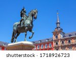 Statue Philip III in Madrid at Plaza Mayor
