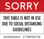 sorry this table is not in use... | Shutterstock .eps vector #1718936716