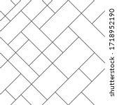 mondrian lines pattern vector.... | Shutterstock .eps vector #1718952190