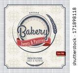 vintage bakery poster | Shutterstock .eps vector #171898118