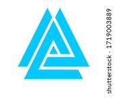 illustration of triangle shape...   Shutterstock . vector #1719003889