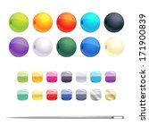 set of different round beads... | Shutterstock .eps vector #171900839