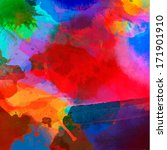 Abstract Watercolor Palette Of...