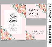 beauty wedding event invitation ... | Shutterstock .eps vector #1719023413