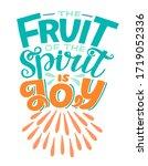 hand lettering the fruit of... | Shutterstock .eps vector #1719052336