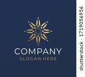 business golden star company... | Shutterstock .eps vector #1719056956