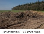 Dung Or Muck Heap With Tractor...