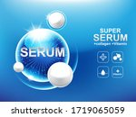 collagen serum or vitamin power ...   Shutterstock .eps vector #1719065059