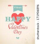 happy valentine's day hand...   Shutterstock .eps vector #171906896