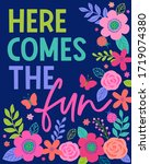 """""""here comes the fun"""" colorful ... 