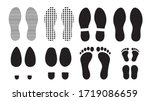 footprints human silhouette ... | Shutterstock .eps vector #1719086659