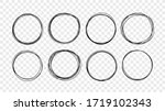 hand drawn circle line sketch...   Shutterstock .eps vector #1719102343