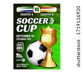 soccer sportive champion cup... | Shutterstock .eps vector #1719116920