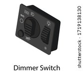 dimmer switch icon. isometric...   Shutterstock .eps vector #1719138130