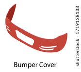bumper cover icon. isometric of ...   Shutterstock .eps vector #1719138133
