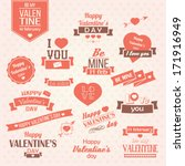 collection of valentine's day... | Shutterstock .eps vector #171916949
