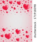 valentine card hearts vector... | Shutterstock .eps vector #171918398