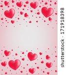 valentine card hearts vector... | Shutterstock .eps vector #171918398