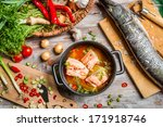 Fresh Ingredients For Fish Soup
