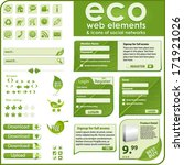 collection of eco elements and... | Shutterstock .eps vector #171921026