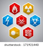 danger sign   various color... | Shutterstock .eps vector #171921440