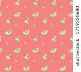 seamless bright summer fruit... | Shutterstock .eps vector #1719230680
