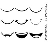 smile icon vector set. happy... | Shutterstock .eps vector #1719240169