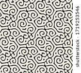 vector seamless pattern. modern ... | Shutterstock .eps vector #1719253546
