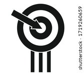campaign target icon. simple... | Shutterstock .eps vector #1719260659